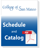 College of San Mateo Schedule of Classes