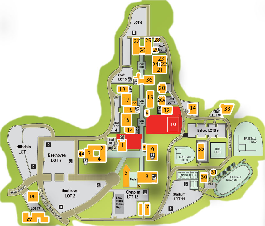 college of san mateo map